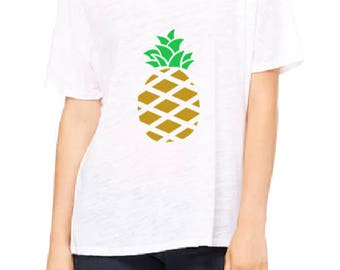 Pineapple Slouchy T-Shirt