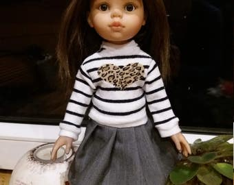 Sweater  for doll Paola Reina