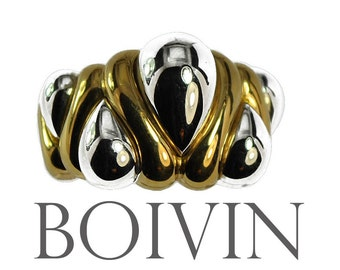 Ring grey and yellow gold 18K House Boivin