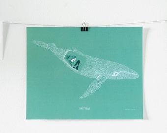 Poster print - whale carpool