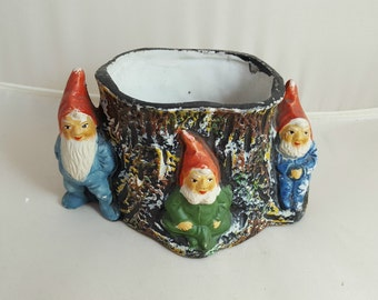Vintage Made in Japan Gnome Planter