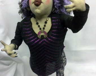 Stella, a fantastic hand made doll by Rita Thompson. twenty six inches high with moveable arms and legs