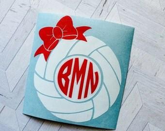 Monogram decal, volleyball decal, monogram valleyball, car window sticker, yeti sticker, yeti decal, rtic cup decal, yeti, monogram sticker