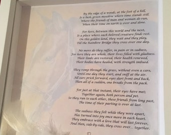 Pet Memorial Photo Frame Poem Picture Personalised