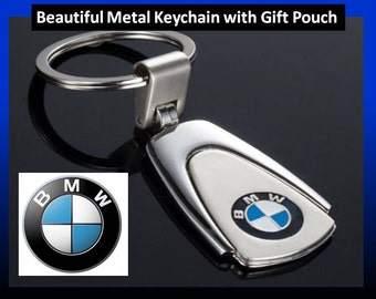 BMW Logo Beemer Car Keyring with Gift Pouch