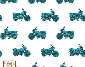 Girl Charlee Blue Vintage Motorcycle Knit