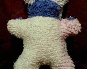 Scrappy Patchwork Vintage Chenille Baby's Teddy Bear