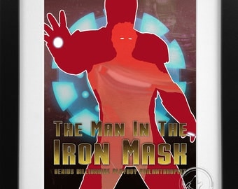The Man in the Iron Mask; Iron Man/Tony Stark Art Print