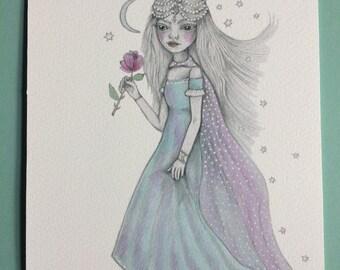 Magic Princess.  Glicee print.