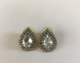 Vintage Teardrop Post Back Earrings
