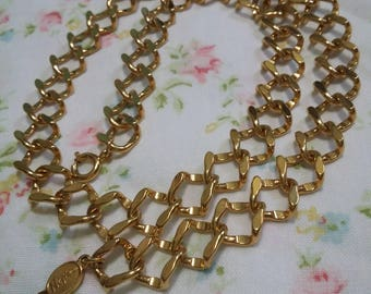 Napier vintage unique gold chain