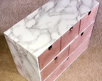 Marble 6 Drawers -3 Styles- Storage Box