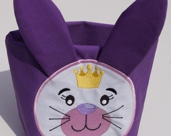 Fabric basket Easter motif
