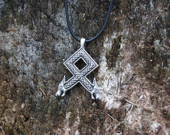 Elder Futhark Othala Necklace