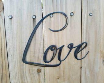 Love Metal Sign.  Wall Decor