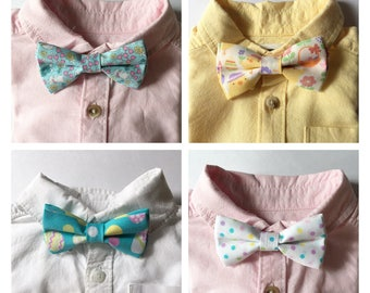 EASTER Toddler Boys Clip On Bow Tie