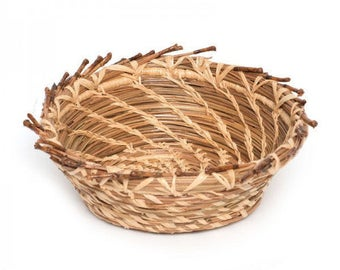 Pine Needle Bowl with Sheath Trim