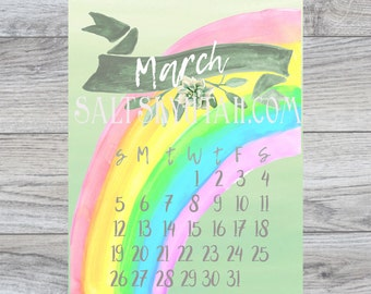 March digital download calendar