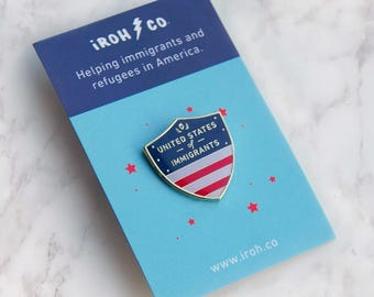 United States of Immigrants Enamel Pin