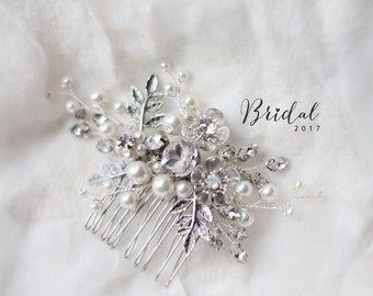 Bridal Twig Hair Clip Wedding Flower Hair Piece Twig Hair Piece Bridal Headpiece Twig Hair Comb Bridal HairComb Twig Hair Comb Hair Clip