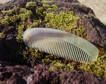 Ox Horn Comb - Premium Horn Comb, Gift for Him, Beard Comb, Head Comb, Gift for Her, Groomsmen gift, All Natural