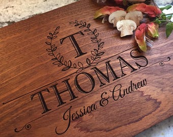 Personalized Cutting Board - Engraved Cutting Board - Custom Cutting Board - Wedding Gift, Anniversary Gift, Housewarming Gift, Engagement