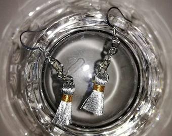 Silver tassels earrings