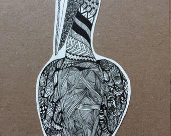 Original Pelican pen drawing