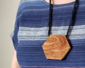 Hexagon Wood Statement Necklace Kit