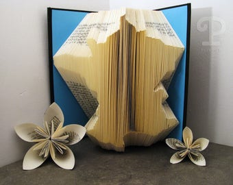 Folded book - France - Book sculpture - Altered book - Craft - Gift