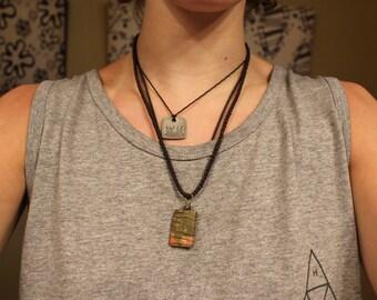 Medium Diamond Braided Necklace