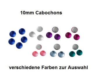 10 cabochons 10mmCabochon, acrylic, matt, light blue, dark blue, pink, purple