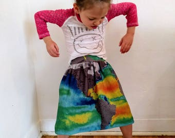 Girls' Twirl Skirt - Ocean Salinity Pattern - Pocket Skirt - Jersey Skirt