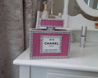 Chanel inspired perfume bottle.