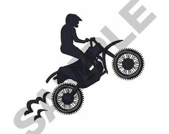 Motocross Rider - Machine Embroidery Design