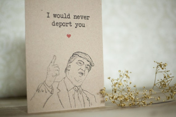 Trump birthday Card Funny birthday Card Fianc birthday Card – Birthday Cards from the President
