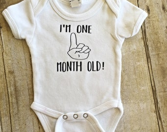 I'm One Month Old Onesie // Baby Onesie // Funny Baby shirt // Funny Baby Onesie // Milk Baby