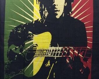 Hand Made Single Bed Bob Marley Guitar Throw/Wall hanging