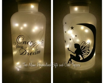 Fairy Jar - Night Light - Fairy in a Jar - Wedding Decor - Fairy lights - Flower Girl - Lantern - Fairy Decor - Custom Gift