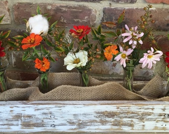 Reclaimed Wood Distressed Vase Box