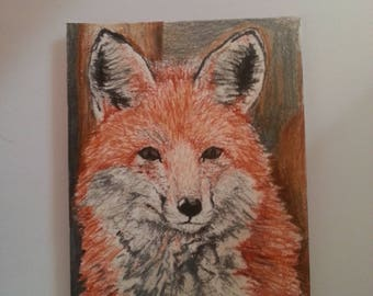 original ACEO fox sketch card by S.Kasper