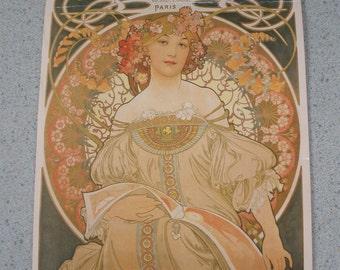 Alfons Mucha 1997 Calendar of French Ladies Prints