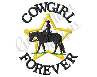 Cowgirl Forever - Machine Embroidery Design