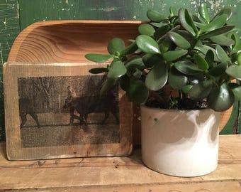 Customizable photo on wood