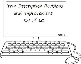 Etsy Listings SEO Improvement - Item Description Revision and Improvement - Search Engine Optimization - SEO Analysis - Set of 10