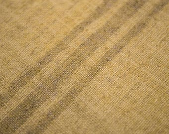 Vintage hemp natural   dye safran stripe  flatweave,  floor cover .