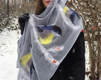 "Scarf tippet ""Titmouse"""