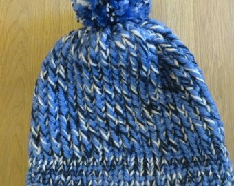 Blue and white adult Hat
