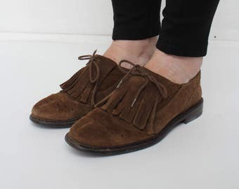 Brown Suede Woman Shoes/ Size 38