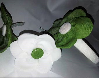 flower girl headband, headband, visor visor occasions, frontino handmade, bridesmaids, first communion
